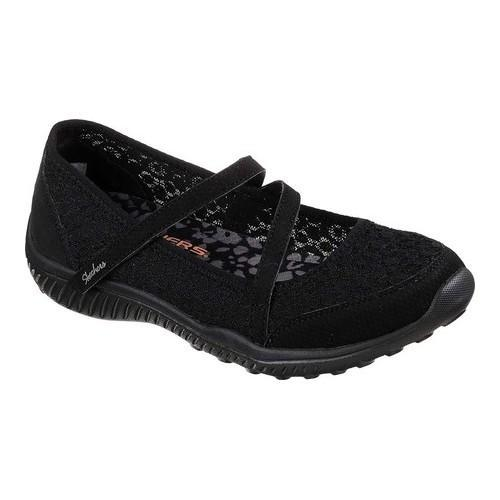 Skechers Women Leather/Mesh Fabric Mary Jane Shoe 8M