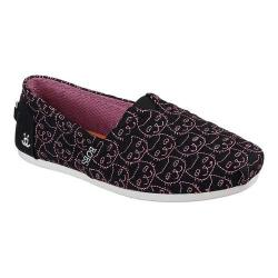 Women's Skechers BOBS Plush Cats Meow Alpargata Black/Pink