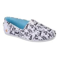 Women's Skechers BOBS Plush Zen Kitty Alpargata White