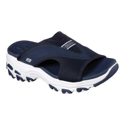 bc5171243974 Shop Women s Skechers D Lites Retro Vibe Slide Sandal Navy - Free Shipping  On Orders Over  45 - Overstock - 19427034