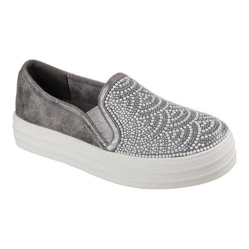 Skechers Sport DOUBLE UP - Trainers - pewter/embellishment
