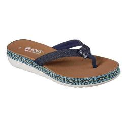 Women's Skechers BOBS Sunkiss Star Fish Thong Sandal Denim