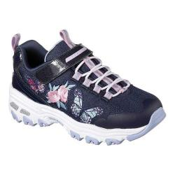 Girls' Skechers D'Lites Patch Tastic Sneaker Navy/Multi