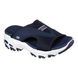 Women's Skechers D'Lites Retro Vibe Slide Sandal Navy