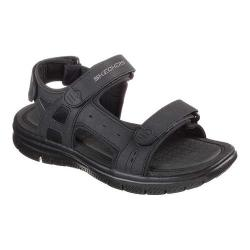 Men's Skechers Flex Advantage S Upwell Sport Sandal Black/Black