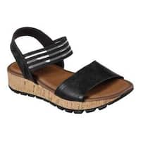Women's Skechers Footsteps Markers Ankle Strap Sandal Black