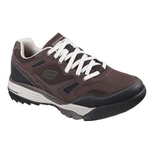 Men's Skechers Relaxed Fit Reforge Sneaker Brown/Black
