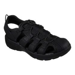 Men's Skechers Melbo Journeyman 2 Fisherman Sandal Black/Black