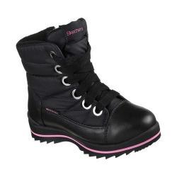 Girls' Skechers Seekers Zero Chill Mid Calf Boot Black/Hot Pink
