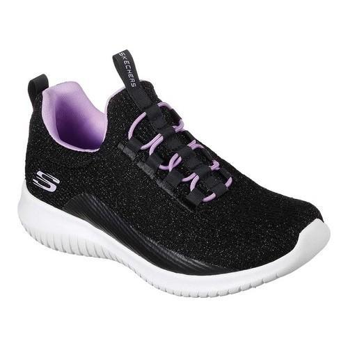 b59dceba4fcb Shop Girls  Skechers Ultra Flex Sneaker Black Lavender - Free Shipping  Today - Overstock - 19427190