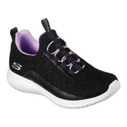Girls' Skechers Ultra Flex Sneaker Black/Lavender