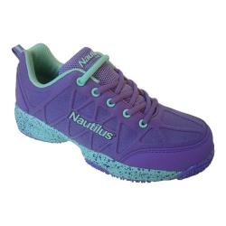 Women's Nautilus N2157 Composite Toe Work Shoe Purple/Aqua Nylon Coated Mesh/Synthetic Leather