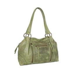 Women's Nino Bossi Emery Leather Satchel Avocado