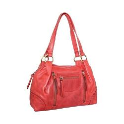 Women's Nino Bossi Emery Leather Satchel Red