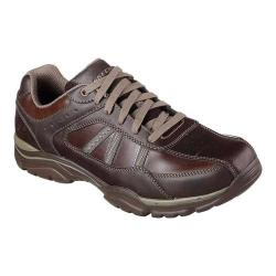 Men's Skechers Relaxed Fit Rovato Texon Sneaker Chocolate