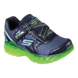 Boys' Skechers S Lights Flex Charge Sneaker Navy/Lime