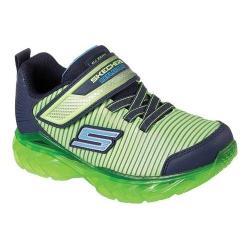 Boys' Skechers S Lights Recharger Sneaker Lime/Navy
