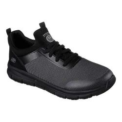Men's Skechers Work Relaxed Fit Wishaw Slip Resistant Sneaker Black/Charcoal