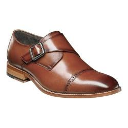 Men's Stacy Adams Desmond Cap Toe Monk Strap 25162 Cognac Smooth Leather