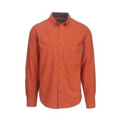 Men's Woolrich Sportsman Chamois Shirt Persimmon Heather