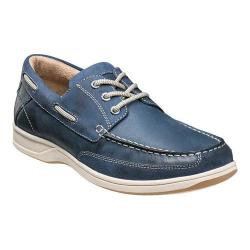 Men's Florsheim Lakeside Ox Boat Shoe Indigo Smooth Leather/Suede