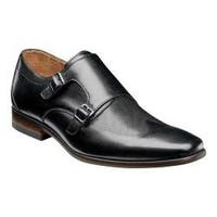 Men's Florsheim Postino Double Monk Strap Black Smooth Leather/Perf