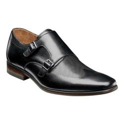 Men's Florsheim Postino Double Monk Strap Black Smooth Leather/Perf