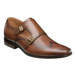 Men's Florsheim Postino Double Monk Strap Cognac Smooth Leather/Perf