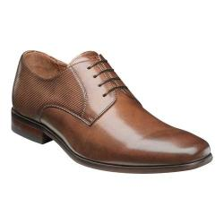 Men's Florsheim Postino Plain Toe Oxford Cognac Smooth Leather/Perf