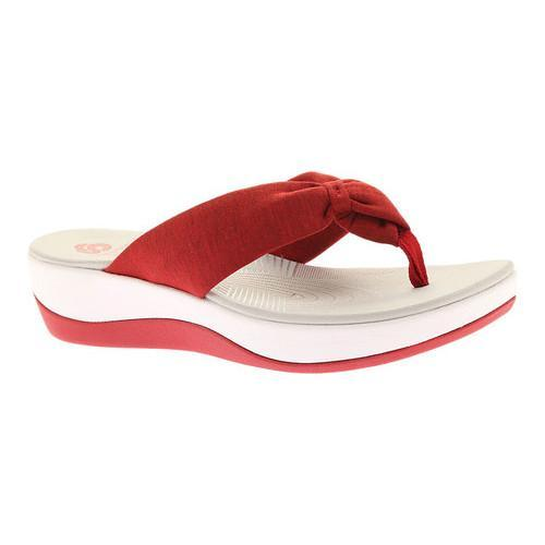 390af4288aea Shop Women s Clarks Arla Glison Thong Sandal Red Heather Fabric II - On Sale  - Free Shipping On Orders Over  45 - Overstock - 19473447