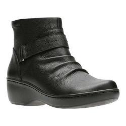 Women's Clarks Delana Fairlee Ankle Boot Black Full Grain Leather