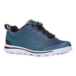 Women's Propet TravelActiv Xpress Sneaker Black/Blue Nylon