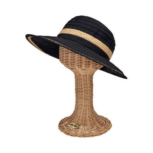 64f2bcb08f6eb Women s San Diego Hat Company Face Saver Wide Brim Hat with Raffia Inset  RBL4820 Black - Free Shipping On Orders Over  45 - Overstock.com - 25472196