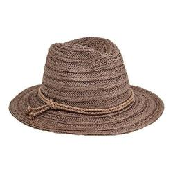 Women's San Diego Hat Company Fedora with Double Knot Braid Trim PBF7312  Grey | Overstock com Shopping - The Best Deals on Women's Hats