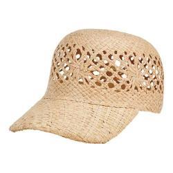 Women's San Diego Hat Company Raffia Baseball Cap RHM6010 Natural