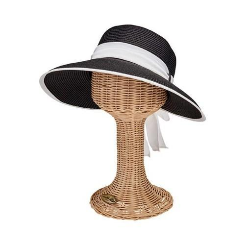 Shop Women s San Diego Hat Company Ultrabraid Scarf Face Saver Sun Hat  UBM4480 Black White - Free Shipping On Orders Over  45 - Overstock -  19474041 38fa664c870
