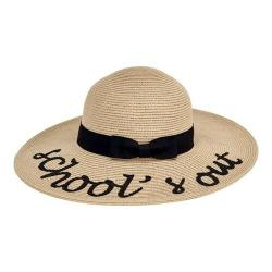 Girls' San Diego Hat Company School's Out Paperbraid Sun Brim Hat PBK6526 Natural