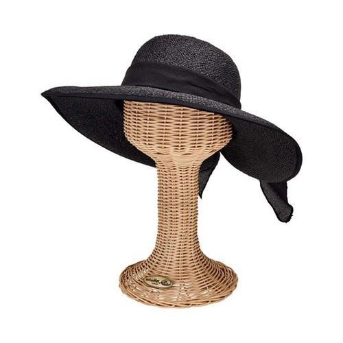 Shop Women s San Diego Hat Company Woven Paper Face Saver Hat with Scarf  Tie PBL3093 Black - Free Shipping On Orders Over  45 - Overstock - 19474108 2c420ac3dcca