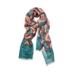 Women's San Diego Hat Company Woven Geometric All Over Print Scarf BSS1731 Green