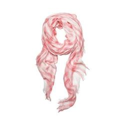 Women's San Diego Hat Company Woven Gingham Print Scarf BSS1720 Pink