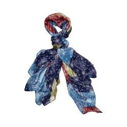 Women's San Diego Hat Company Woven Paisley Patchwork Scarf BSS1728 Multi