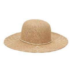 San Diego Hat Company Natural/White Round Crown Woven Paper Sun Brim Hat