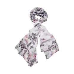 Women's San Diego Hat Company Woven Scattered Butterfly Print Scarf BSS1735 Pink - Thumbnail 0