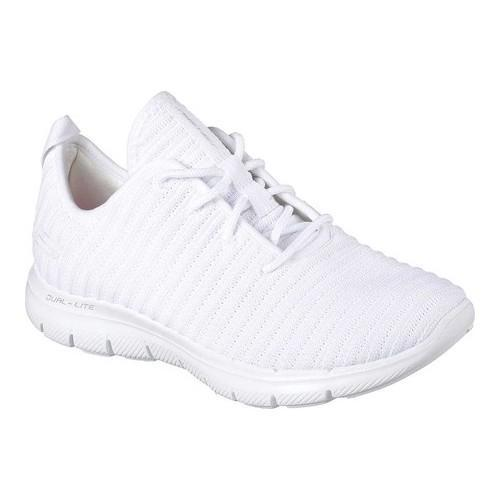 Shop Women s Skechers Flex Appeal 2.0 Estates Sneaker White - Free Shipping  Today - Overstock - 19474161 61e501cff