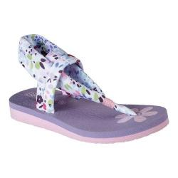 Girls' Skechers Meditation Lilly Strides Slingback Sandal White/Multi