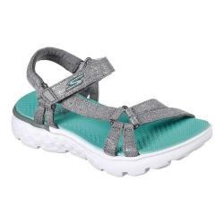 Girls' Skechers On the GO 400 Lil Radiance Ankle Strap Sandal Gray/Turquoise