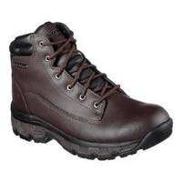 Men's Skechers Relaxed Fit Morson Sinatro Hiking Boot Dark Brown