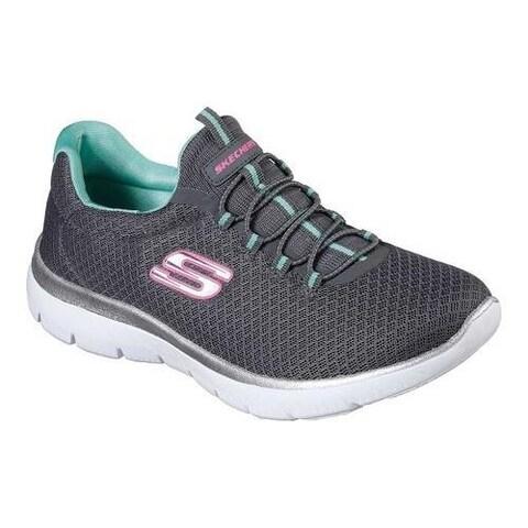 Women's Skechers Summits Training Sneaker Charcoal/Green