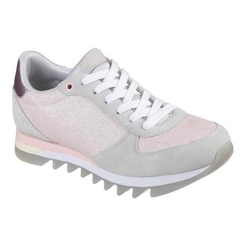 Shop Women s Skechers Venus Shiny Corners Sneaker Light Gray Pink - Free  Shipping Today - Overstock - 19474333 b2ce2514255a