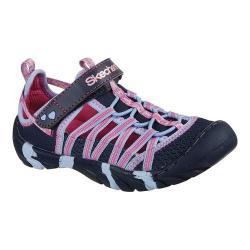 Girls' Skechers Summer Steps Summer Sandal Navy/Multi
